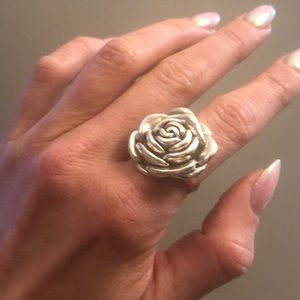 Jewelry - Unique Silver 🌹 Rosette Ring